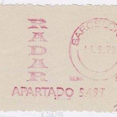 Sellos: FRANQUEO MECÁNICO Nº 5852, RADAR (AÑO1970). Lote 52160558