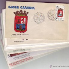 Selos: LOTE 10 SOBRES 1º DIA DE CANARIAS- TENERIFE/GRAN CANARIA. Lote 52774879