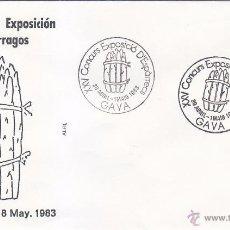 Sellos: ESPARRAGOS XXV CONCURS EXPOSICIÓ D'ESPÀRRECS, GAVA (BARCELONA) 1983. MATASELLOS EN SOBRE DE ALFIL.. Lote 53208103