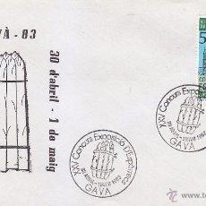 Sellos: ESPARRAGOS XXV CONCURS EXPOSICIÓ D'ESPÀRRECS, GAVA (BARCELONA) 1983. MATASELLOS EN SOBRE ILUSTRADO.. Lote 53208113