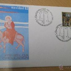 Sellos: SOBRE PRIMER DIA COVARRUBIAS BURGOS 1982 NAVIDAD. Lote 53222938
