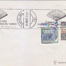 Sellos: RODATUR 84 VISITEN EL SALON EUROPEO DEL TURISMO, BARCELONA 1984. MATASELLOS RODILLO EN SOBRE. GMPM. Lote 21803709