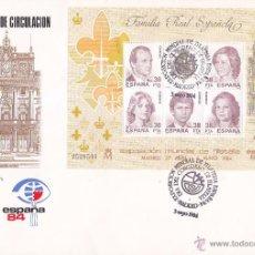 Sellos: DIA CONGRESO DE FILATELIA EN ESPAÑA-84, MADRID 3 MAYO 1984. MATASELLOS SOBRE ILUSTRADO CON HB. GMPM.. Lote 53288503