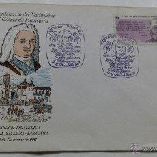 Sellos: SOBRE EDICION LIMITADA CONDE DE FUENCLARA ZARAGOZA. Lote 53597590