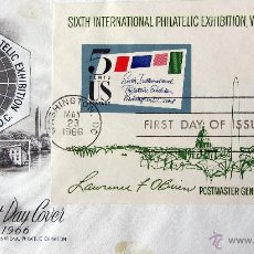 Sellos: SIXTH INTERNATIONAL PHILATELIC EXHIBITION WASHINGTON 1966 FIST DAY ISSUE PRIMERA EMISION USA EE.UU.. Lote 53639755