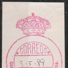 Sellos: FRANQUICIA, VALENCIA: CONSELLERIA D'AGRICULTURA. Lote 54374578