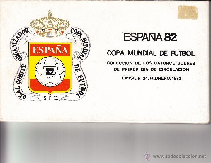 SOBRE: 1982 ESPAÑA. COLECCION DE 14 SOBRES CON LAS SEDES DE LA COPA MUNDIAL DE FUTBOL (Sellos - Historia Postal - Sello Español - Sobres Primer Día y Matasellos Especiales)