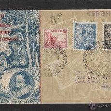 Sellos: SOBRE QUIJOTE IV CENT CERVANTES MAT EXPOSICIÓN FILT MARÍTIMA , ATARAZANAS REALES . 1947 BARCELONA .. Lote 54813266