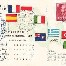 Sellos: MATASELLOS-DEPORTE - WATERPOLO -- II JUEGOS MEDITERRÁNEOS -BARCELONA- ---1955----. Lote 55183697