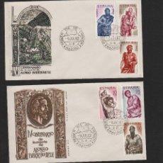 Selos: Nº ED. 1438/43 AÑO 1962 . PINTURA . ALONSO DE BERRUGUETE .SOBRE PRIMER DÍA . ALFIL . Lote 55198009