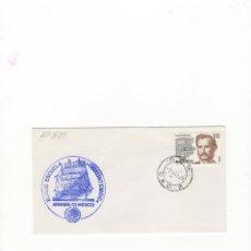 Sellos: SOBRE. BUQUE ESCUELA ´´CUAUHTEMOC´´, ARMADA DE MEXICO, 1988.. Lote 55389809