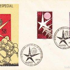 Sellos: MATASELLOS MADRID- EXPOSICIÓN DE BRUSELAS -1958 CON SELLOS NUMS. 1220-1221. Lote 55398925