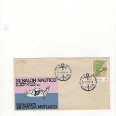 Selos: SOBRE. XII SALON NAUTICO INTERNACIONAL, BARCELONA, 1974.. Lote 55593826