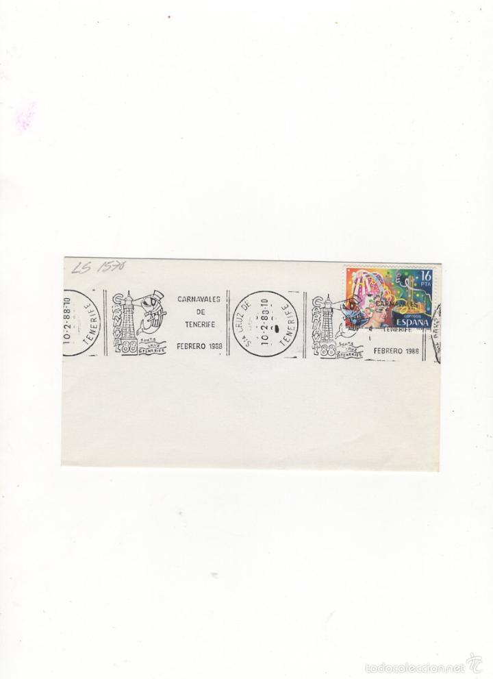 SOBRE. CARNAVALES DE TENERIFE, , STA. CRUZ DE TENERIFE, 1988. (Sellos - Historia Postal - Sello Español - Sobres Primer Día y Matasellos Especiales)