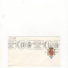 Sellos: SOBRE. DIA DE LAS FUERZAS ARMADAS, LA CORUÑA, 1985.. Lote 56253154