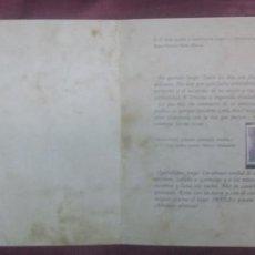 Sellos: SELLO - SERIE EPISTOLAR - COLECCIONABLE Nº 1 / CARTAS DESDE GRANADA - GARCIA LORCA. Lote 56678009