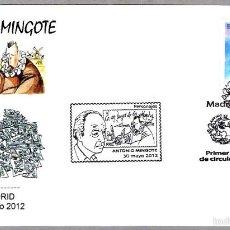 Matasellos Primer Dia - ANTONIO MINGOTE - CERVANTES - QUIJOTE. Madrid 2012