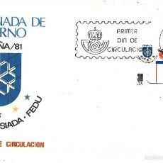 Sellos: UNIVERSIDAD DE INVIERNO. ESPAÑA, 1981. Lote 57077191