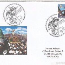 Francobolli: CC CON MAT PRESENTACION TOBARRA ALBACETE SEMANA SANTA RELIGION. Lote 158583489