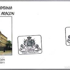 Sellos: MATASELLOS III CENTENARIO CAPITANIA GENERAL DE ARAGON. ZARAGOZA, ARAGON, 2011. Lote 57399133