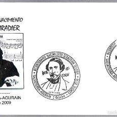Sellos: MATASELLOS 200 AÑOS NACIMIENTO COMPOSITOR SEBASTIAN IRADIER. SALVATIERRA-AGURAIN, PAIS VASCO, 2009. Lote 58329473