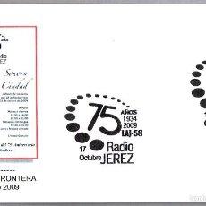 Sellos: MATASELLOS 75 AÑOS RADIO JEREZ EAJ-58. JEREZ DE LA FRONTERA, CADIZ, ANDALUCIA, 2009. Lote 58344084