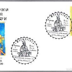 Sellos: MATASELLOS PRIMER DIA - 900 AÑOS MUERTE DEL REY ALFONSO VI. ASTORGA, LEON, 2009. Lote 58344391