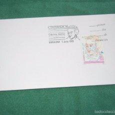 Sellos: ESPAÑA - CENTENARIOS GABRIELA MISTRAL EDIFIL 3013 - SOBRE MATASELLOS PRIMER DIA. Lote 58361370