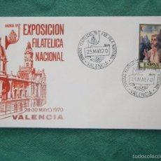 Sellos: E70M52 JORNADAS FILATELICAS EXP.FIL.NACIONAL EXFILNA 1970 VALENCIA. Lote 58373977