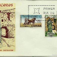 Sellos: ESPAÑA 1967- EDI 1827/29 (SERIE-BIMILENARIO CACERES) (SOBRE PD DEL SFC). Lote 58642614