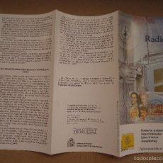 Sellos: FECHA DE EMISION SELLOS ESPAÑA CORREOS AÑO 2000 FOLLETO - PERSONAJES RADIO . Lote 58976385