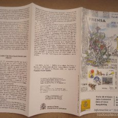 Sellos: FECHA DE EMISION SELLOS ESPAÑA CORREOS AÑO 2000 FOLLETO - PRENSA. Lote 58976410