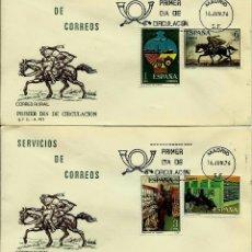 Sellos: ESPAÑA 1976- EDI 2329/32 (SERIE-SERVICIOS DE CORREOS EN DOS SOBRES PD DEL SFC). Lote 60292471