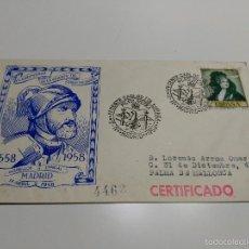 Sellos: SOBRE. 1958. MADRID. IV CENTENARIO DE LA MUERTE DE CARLOS I DE ESPAÑA. Lote 60351959