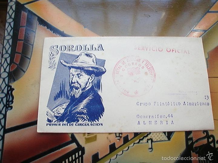 PRIMER DIA CIRCULACION SOROLLA (Sellos - Historia Postal - Sello Español - Sobres Primer Día y Matasellos Especiales)