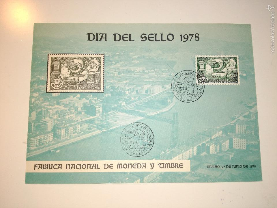 Sellos: hoja recuerdo EXFILNA 78 (Bilbao) con sello y matasellos correspondiente - Foto 2 - 61011979