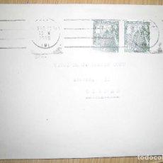 Sellos: DOS SOBRES CON MATASELLOS Y SELLOS 1955. Lote 62901172
