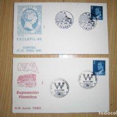 Sellos - sobres con matasellos y sellos 1980, 1956, 1984 - 62901948