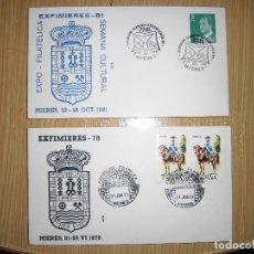 Sellos: DOS SOBRES CON MATASELLOS Y SELLOS 1978, 1981. Lote 62904144
