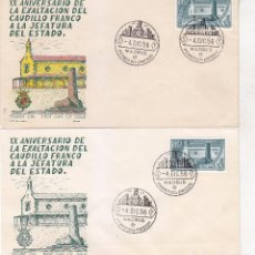 Sellos: RARA VARIEDAD GENERAL FRANCO XX ANIVERSARIO EXALTACION A JEFATURA ESTADO 1956 (EDIFIL 1199 SPD ALFIL. Lote 28470960