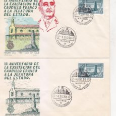 Sellos: RARA VARIEDAD GENERAL FRANCO XX ANIVERSARIO EXALTACION A JEFATURA ESTADO 1956 (EDIFIL 1199 SPD ALFIL. Lote 32703791