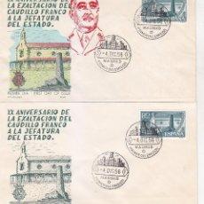 Sellos: RARA VARIEDAD GENERAL FRANCO XX ANIVERSARIO EXALTACION A JEFATURA ESTADO 1956 (EDIFIL 1199 SPD ALFIL. Lote 64312851