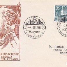 Sellos: GENERAL FRANCO XX ANIVERSARIO EXALTACION A JEFATURA ESTADO 1956 (EDIFIL 1199) EN SPD DE EG. RARO ASI. Lote 64314251