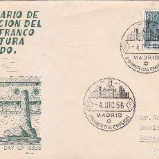 Sellos: GENERAL FRANCO XX ANIVERSARIO EXALTACION A JEFATURA ESTADO 1956 (EDIFIL 1199) SOBRE PRIMER DIA ALFIL. Lote 64314399