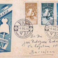 Sellos: I CENTENARIO DEL TELEGRAFO 1955 (EDIFIL 1180/82) EN SPD CIRCULADO DEL SERVICIO FILATELICO. MUY RARO. Lote 64359347