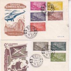 Sellos: AVION SUPER CONSTELLATION Y NAO SANTA MARIA 1955-1956 (EDIFIL 1169/79) EN TRES SPD SFC MUY RAROS.. Lote 64361227