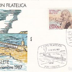 Sellos: SOBRE: 1987 PORTUGALETE. I EXPOSICION FILATELICA. Lote 67307693