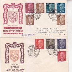 Sellos: GENERAL FRANCO 1955-1956 (EDIFIL 1143/63) EN CINCO SPD SERVICIO FILATELICO DE CORREOS. MUY RAROS ASI. Lote 68254557