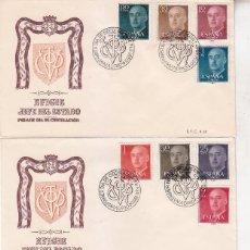 Sellos: GENERAL FRANCO 1955-1956 (EDIFIL 1143/63) EN CINCO SPD SERVICIO FILATELICO DE CORREOS. MUY RAROS ASI. Lote 68254577