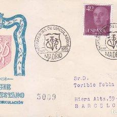 Sellos: GENERAL FRANCO 1955-1956 (EDIFIL 1145-48) EN SOBRE PRIMER DIA CIRCULADO DEL SERVICIO FILATELICO RARO. Lote 50446724